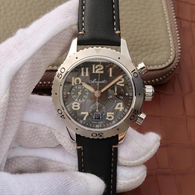 LH宝玑TYPEXX-XXI-XXII系列男士手表高端运动腕表!42mm直径,7750计时机械机芯,探索宝玑悠久璀璨的历史,徜徉于引人入胜的宝玑世界!皮表带,男士手表,透底