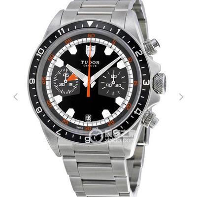 N帝舵启承系列70330n-95740黑盘2892瑞士自动机械,男士手表,材质:不锈钢,双向旋转外圈配黑色字,机芯型号:Cal.2892,振频:28800每小时振荡次数,表径:42毫米,密底