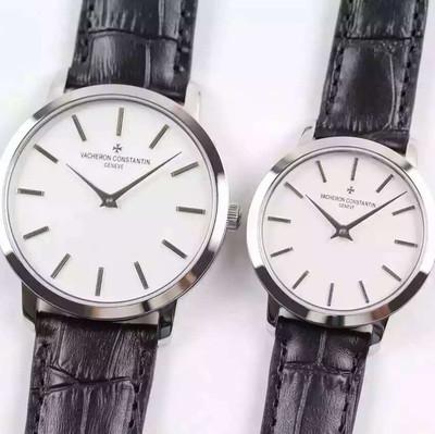 江诗丹顿PATRIMONY传承系列(情侣腕表)型号43076-ooop-9875情侣腕表男直径41mm女直径33mm自动机械机芯皮表带透底手表