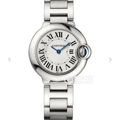 MK卡地亚蓝气球28.6mm直径W69010Z4女士手表,石英机芯,精钢表带,密底