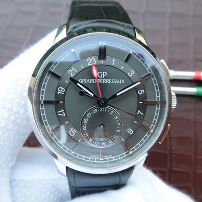芝柏Girard-Perregaux1966系列49544-52-131-BBB0直径40mm厚度11.7mm蓝宝石镜面双时区腕表顶级版本自动机械机芯男士手表皮表带透底
