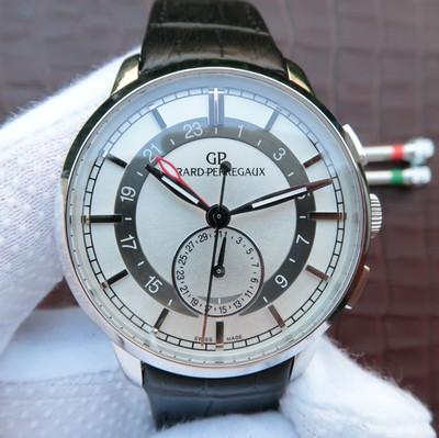 芝柏Girard-Perregaux1966系列49544-52-131-BBB0直径40mm厚度11.7mm蓝宝石镜面自动机械男士手表皮表带透底