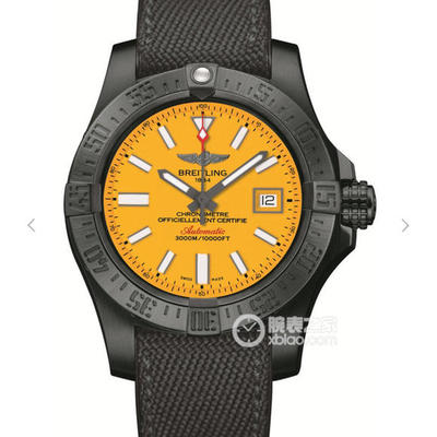 GF百年灵复仇者二代M17331E2|I530|109W|M20BASA.1深潜海狼腕表(AvengerIISeawolf),45毫米直径,布表带,男士手表,自动机械机芯,密底