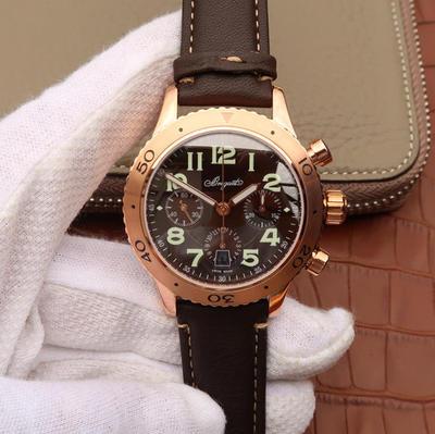 LH宝玑TYPEXX-XXI-XXII系列男士手表高端运动腕表!42mm直径,瑞士7750计时机械机芯,探索宝玑悠久璀璨的历史,皮表带,男士手表,透底