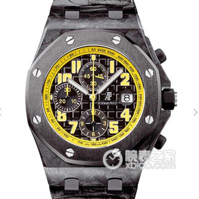 JF爱彼26176AP大黄蜂v10版12秒特殊定制原装3126机械计时机芯碳纤维底座+陶瓷圈+背部钛合金!精装魅力男士手表