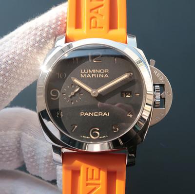 VS版沛纳海359完美版pam00359/PAM359经过两年多的研发克隆了原装全自动p.9000机械机芯硅胶表带44mm直径男士手表透底