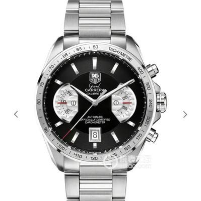 V6泰格豪雅超级卡莱拉:自动机械机芯43毫米直径男士精钢透底手表