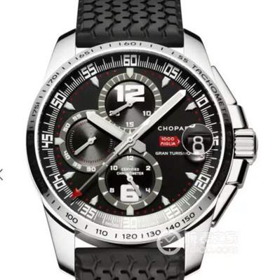 V6萧邦经典赛车系列168459-3001款式:ASIA7753自动机械材质:精钢振频:28800每小时振荡次数表径:44毫米男士手表硅胶表带透底