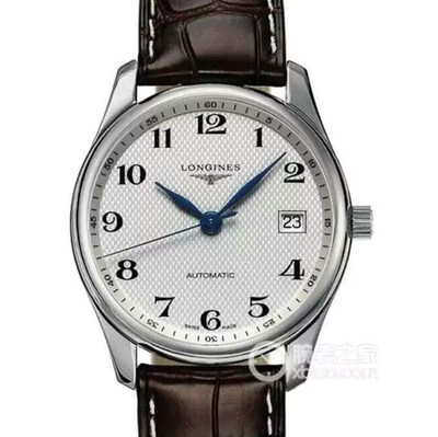 浪琴名匠L2.518.4.78.32824自动机械36毫米直径男士皮带透底手表