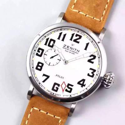 XF飞行员新品上线进口全自动机械机芯密底牛皮表带GMT两地时间功能45毫米大飞洋葱大把头乱真男士手表