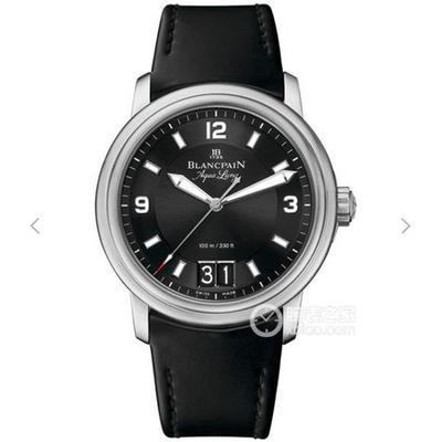 N宝珀普京同款LéMAN领袖系列2850B-1130-64B大日历视窗腕表,进口瑞士机芯改宝珀原装6950机芯,功能与原装一致,双窗大日历,个位数和十位数分开跳动。男士手表