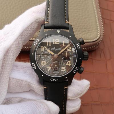 LH宝玑TYPEXX-XXI-XXII系列男士手表高端运动腕表!42mm直径,7750计时机械机芯,探索宝玑悠久璀璨的历史,皮表带,男士手表,透底