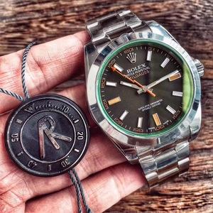 ROLEX劳力士MILGAUSS系列116400-GV-72400(绿玻璃)黑盘腕表