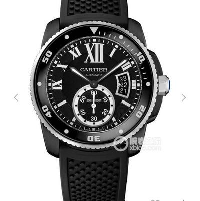 JJ卡地亚CALIBREDECARTIER卡历博系列WSCA0006潜水腕表,42mm直径,男士手表,硅胶表带,自动机械机芯,密底