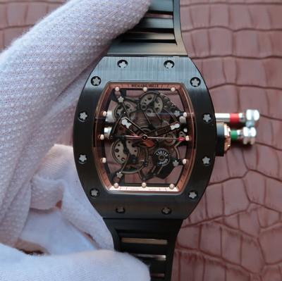 顶级版理查德米勒系列理查德米勒RM02系列最新版本(表壳和底盖釆用最新技术纳米TZP陶瓷制成)注:TZP是一种四方氧化锆多晶瓷